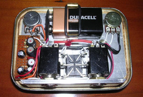 Inside Tobacco Fuzz Effects Unit